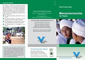 Informationsblatt der GfbV (2009) im pdf Format - Gesellschaft für ...