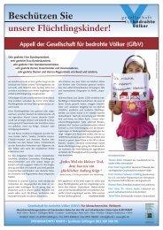 Zum Kampagnenblatt in pdf Format - Gesellschaft für bedrohte Völker