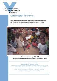 Gerechtigkeit für Darfur - Gesellschaft für bedrohte Völker