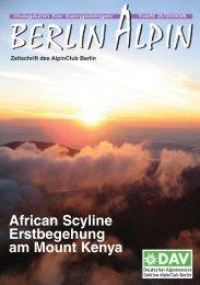 African Scyline Erstbegehung am Mount Kenya - AlpinClub Berlin