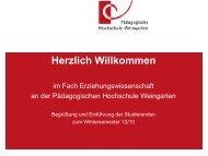 Modul 1 - Pädagogische Hochschule Weingarten