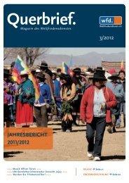 3/2012 Jahresbericht 2011/2012 - Weltfriedensdienst e.V.
