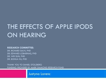 The effects of apple ipods on hearing