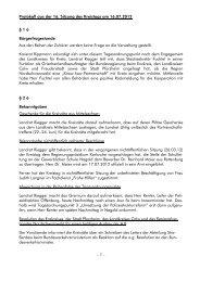 Protokoll aus der 16. Sitzung des Kreistags am ... - Landkreis Calw