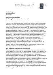 BERLINbewegt e.V. - Kinderfreundliche Stadtgestaltung