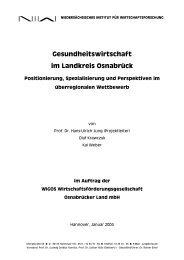 Gesundheitswirtschaft im Landkreis Osnabrück - NIW