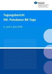 Tagungsbericht VIII. Potsdamer BK-Tage - Deutsche Gesetzliche ...