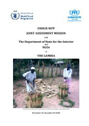 UNHCR-WFP JOINT ASSESSMENT MISSION The Department of ...