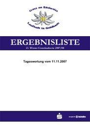 Tageswertung vom 11.11.2007 - LG Schefflenztal