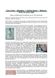 Cora Volz - Skulptur / Ulrike Gerst - Gesellschaft der Freunde junger ...
