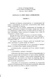 GIRARDI C. - Efficacia e limiti degli antielmintici