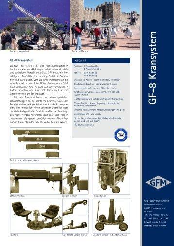 GF-8 Kamerakran Flyer - Grip Factory Munich GmbH