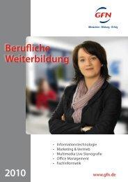 Berufliche Weiterbildung 2010 - GFN AG