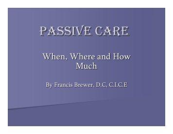 PASSIVE CARE - Aimehi.com