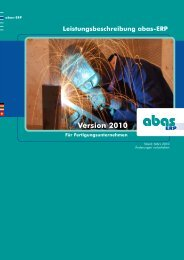 Version 2010 - ABAS Software AG
