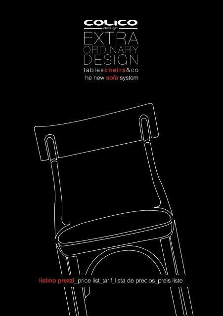 Colico Design Varedo Orari.Listino Prezzi Price Colico Design