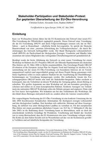 Stakeholder-Partizipation und Stakeholder-Protest: Zur ... - GfRS