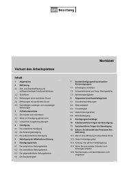 Merkblatt Verlust des Arbeitsplatzes - GFS-Beratung
