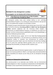 Merkblatt für den ökologischen Landbau - GfRS