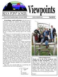Viewpoints Fall 2012 - Rock Point School