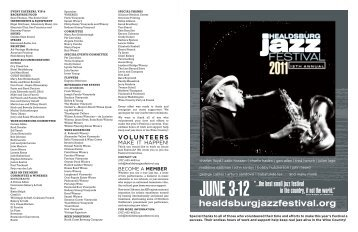 the best small jazz festival in the country - Healdsburg Jazz Festival