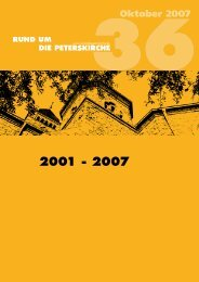 Oktober 2007 - Evangelische Gemeinden an der Peterskirche...