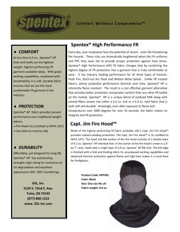 Capt. Jim Fire Hood™ Spentex® High Performance FR