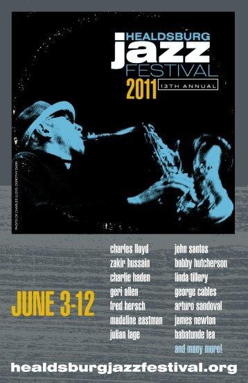 JUNE 3-12 - Healdsburg Jazz Festival