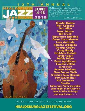 Download the complete program - Healdsburg Jazz Festival