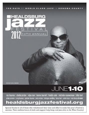 Appreciations, Committees and Donations - Healdsburg Jazz Festival