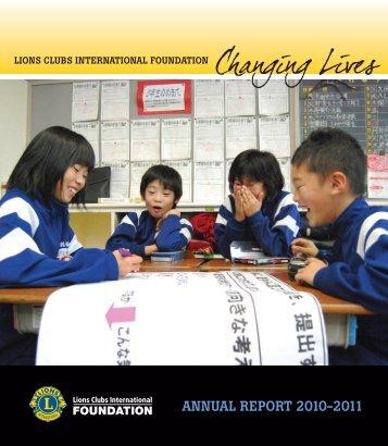 ANNUAL REPORT 2010-2011 - LCIF