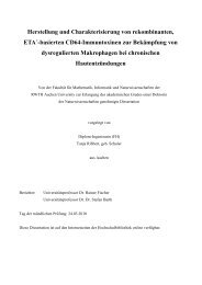 Herstellung und Charakterisierung von rekombinanten, ETA ...