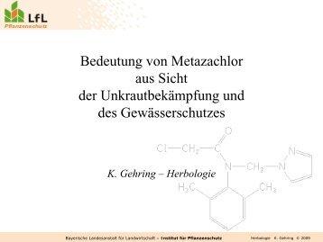 Metazachlor - Bayerische Landesanstalt für Landwirtschaft - Bayern