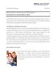 Reichl und Partner konzipiert gesamte CSR Kampagne ... - PR Portal