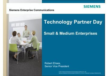 Technology Partner Day - Siemens Enterprise Communications EN