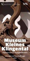 Museum Kleines Klingental - Denkmalpflege - Basel-Stadt