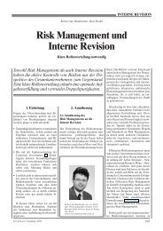 Risk Management und Interne Revision - Home - Ernst & Young ...