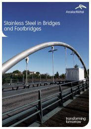 Stainless Steel in Bridges and Footbridges
