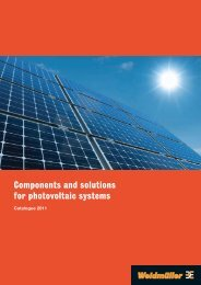 Components and solutions for photovoltaic systems - Weidmüller