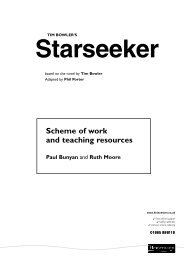 Scheme of work and teaching resources for ... - Pearson Schools