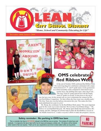 OMS celebrates Red Ribbon Week - Olean City School District