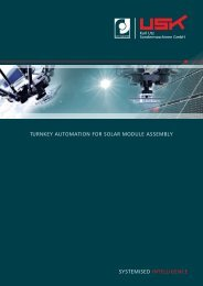 Turnkey Automation for Solar Module Assembly - USK Karl UTZ ...