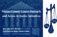 Justice Initiative - New York State Unified Court System