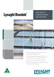 Bondek User's guide - BlueScope Steel