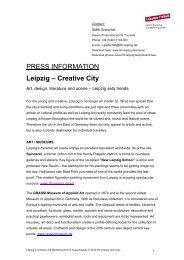 Creative City - Leipzig Tourismus und Marketing GmbH