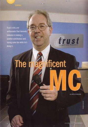 Trust's witty and enthusiastic Paul Kennedy - PGV Consulting