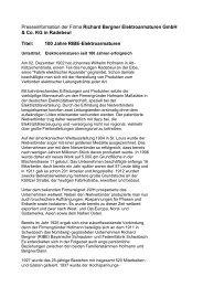 Presseinformation der Firma Richard Bergner ... - RIBE