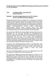 1 Presseinformation der Firma RIBE-Richard Bergner ...
