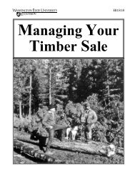 Managing Your Timber Sale - Washington State University