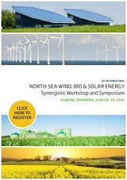 north sea wind, bio & solar energy - Aalborg Universitet Esbjerg